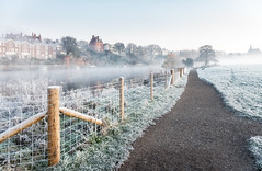 Chester Meadows (Rob Pitt) Tags: chester meadows photography winter mist frost cold cheshire england uk path fence