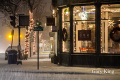 High and Main in the snow (Gary/-King) Tags: 2019 brattleboro december vermont night snow