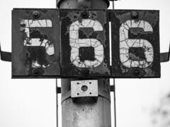 Milepost 56.6 (Joseph Trepasso) Tags: steel iron worn macroblackandwhite withered weathering rust blackandwhite ifyouknowyouknow milepost566 lsrc lakestaterailway