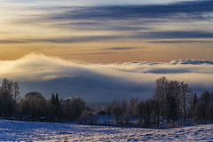 Foggy afternoon (ketil.melby) Tags: norway jaren afternoon fog misty sunset clouds scenery winter colors