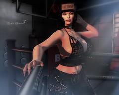 PUNCH DRUNK (Rachel Swallows Inworld Elenamicheals Core) Tags: azoury boxing corebyrachelswallows fashion itgirls lace leather legacybody masoom secondlife uber