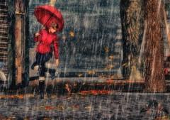 [ Rain ] (willow.kwan) Tags: willow kwan secondlife second like digital art 3d avatar umbrella red toksik maitreya genus truth rain