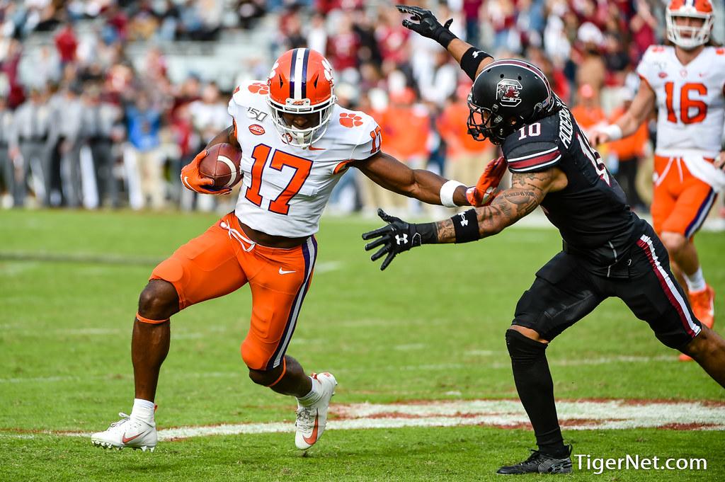 Clemson Photos: Cornell  Powell, 2019, Football, South  Carolina
