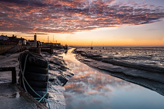 Old Leigh Essex (daveknight1946) Tags: essex oldleigh sunrise clouds lookeast river riverthames tyres boats mud water