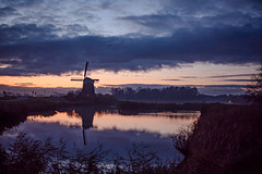 Twiske two (Roderick van der Steen) Tags: sonyalpha sonya7s a7s zeissmilvus50mmf14distagon zeiss zf2 landscape landsmeer twiske windmill reflections water clouds novoflex netherlands