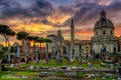Forum Romanum (kud4ipad) Tags: 2019 forum italy roma architecture hdr sunset sky
