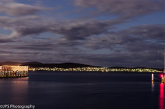 tasmania water (JPS-Photography) Tags: nikon australia d7000 water tasmania hobart night sea ocean lights clouds
