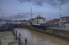 Welcome to Hull Marina (ALANSCOTT1) Tags: hull england harbour water lock hdr affinity evening boats welcome marina blue bluehour