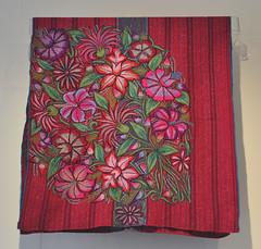 Maya Chal Cape Weaving Chiapas Mexico (Teyacapan) Tags: maya textiles capes clothing chiapas zinacantan mexican flores embroidery