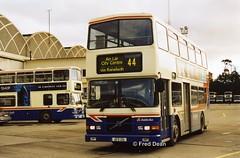 Dublin Bus RV458 (99D458). (Fred Dean Jnr) Tags: busathacliath dublin bus dublinbus donnybrook volvo olympian alexander rh rv458 99d458 donnybrookgaragedublin january2003 dublinbusbluecreamlivery