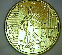 10 eurocents - France 2012 (abdallahh) Tags: monnaie coin euro cent france 2012 pièce change macro