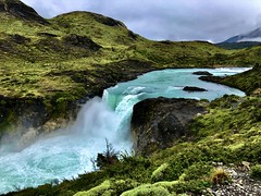 Torres del Paine National Park, Salto Grande (__ PeterCH51 __) Tags: torresdelpaine nationalpark saltogrande paineriver river waterfall scenery landscape landschaft iphone peterch51 chile patagonia andes anden chileanandes