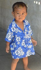 little surfer boy (the foreign photographer - ฝรั่งถ่) Tags: little surfer boy child khong lard phrao portraits flowery shirt bangkhen bangkok thailand nikon d3200
