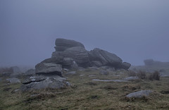 First light & a misty morning at Row tor dartmoor. (sweeny1963) Tags: misty dartmoor firstlight fog granite openspace landscapes moorland