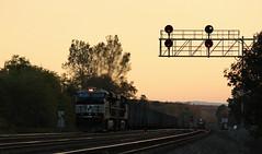 Keep them moving (GLC 392) Tags: ns norfolk southern ge es40dc signal 7538 7553 sun set seunset railroad railway coal train gevo cresson pa pennsylvania cp mo