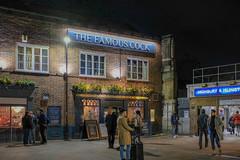 The Famous Cock (Allan Rostron) Tags: pubs london night highbury islington undergroundstations entrances