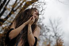 Queen of the Forest (midoucloud) Tags: forest nature alternativegirl alternativemodel artisticnude portrait naturegirl