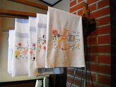 Wash Day .... (Mr. Happy Face - Peace :)) Tags: wash washing art2019 embroidery teatowels