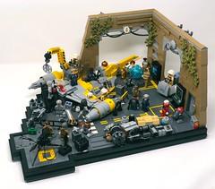 Repurposed N-1 Naboo Starfighter (Hypolite Bricks) Tags: starwars rebels lego legos yavin yavin4 base battlefront moc rogue one empire naboo starfighter