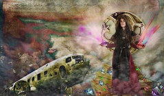 Forbidden Treasures (larwbuck) Tags: airplanes artistic composite effects elements fantasy model painterly textures