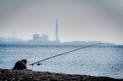 Factory And Sea (sKamerameha) Tags: fishing person factory ocean coast solar