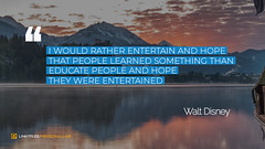 Quote by Walt Disney (persona.lab) Tags: quotes education thoughts emotions personality waltdisney