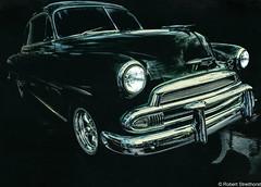 Night Rider (Robert Streithorst) Tags: auto car chevy classic green robertstreithorst vintage