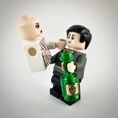 """No, I'm not drunk."" (theoctopirate_customs) Tags: lego umbrella academy number five delores purist custom minifigure minifigures afol"