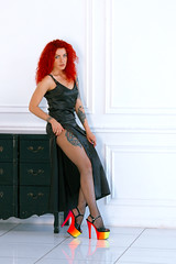 Toma, things are not asking to be judged by you (Kostya Romantikov) Tags: russia russian moscow girl lady woman tights pantyhose strumpfhose collants kostyaswardrobe sexy russianwoman russianlady russiangirl redhead dress tattoo black high fishnet fishnetpantyhose fishnettights heels coloredheels highheels slenderlegs