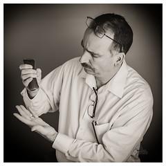 Lost Glasses (_Matt_T_) Tags: selfie portrait lost af540fgz apolloorb43 spectacles smcpdfa50mmf28macro 365 bw cactusv6 autoportrait westcott