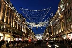 Regent Street Christmas Lights (R.K.C. Photography) Tags: regentstreet christmaslights night evening london unitedkingdom uk westend w1 shops shopping canoneos750d christmas
