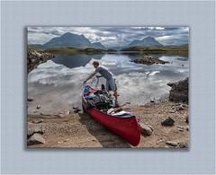 Serenity 195 (The Terry Eve Archive) Tags: mountains scotland rope canoe redcanoe boatbay lochsionasgaig inverpolly culmor colbeag drumrunieforest inverpollyforest westcoast paddle bailer lifejacket buoyancyaid beach gravel shingle canong10