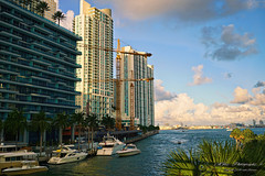 The shore of the giants. (Aglez the city guy ☺) Tags: miamiriver brickell downtownmiami financialdistrict urbanexploration waterways river architecture afternoon outdoors building yacht walkingaround walking cranes