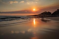 A smoky sunrise at South Durras (Rod Burgess) Tags: durraspoint nsw southdurras sunrise smoke newsouthwales australia