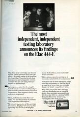 Elac 444-E phono cartridge 1968 (Nesster) Tags: vintage stereo hifi electronics magazine print ad advert advertisement september 1968 hifistereoreview