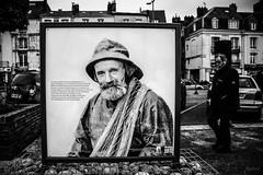 Portrait d'un marin. (LACPIXEL) Tags: marin portrait retrato barbe barba affiche cartel poster rue street calle dieppe normandie france foireauxharengs beard noiretblanc nikon nikonfr nikonfrance flickr lacpixel