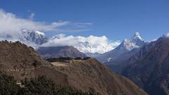 Vallée du Khumbu et Ama Dablam à droite (Sam Photos - Sony full frame) Tags: vallée khumbu ama dablam népal nepal everest montagne himalaya trek randonnée altitude neige automne autumn camp base