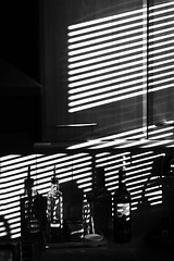 Blinded by shadows (PCPics (Paul Close)) Tags: shadows venetianblinds kitchen naturalhighcontrast summicron75mm apo