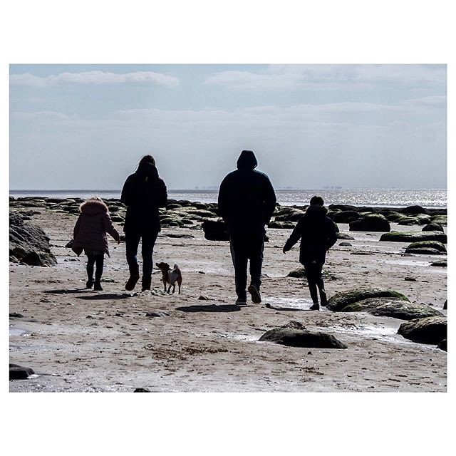Just a Walk on the Beach. Taken at Old Hunstanton. #oldhunstanton #beachphotography #olympusomdem1markii #silhouette #387