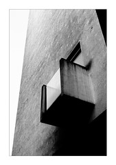 Window of Secrets (Thomas Listl) Tags: thomaslistl blackandwhite biancoenegro noiretblanc monochrome window balcony trist mood lines diagonal architecture empty 50mm