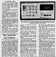 October1979No5 (mat78au) Tags: october 1979 melbourne newspaper extracts new car technology for 1980s ecu computers oct 79 article