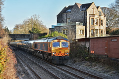Almost There (whosoever2) Tags: uk united kingdom gb great britain england nikon d7100 train railway railroad november 2019 chatburn horrocksford junction clitheroe gbrf class66 66733 4n00 carlisle cement house freight locomotive