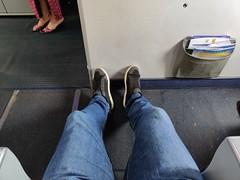 Legroom in the bulkhead seat (A. Wee) Tags: lionair economyclass boeing 737 737800 经济舱 bulkhead legroom