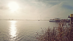 P1080273hshsvf (hans hoeben) Tags: morning view west harbor amsterdam holland panasonic lx3 lumix dmc dutch vessel tanker light winter december 1 hornplas netherland hq compact seriouscompact foggy