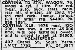 October1979No46 (mat78au) Tags: october 1979 melbourne newspaper extracts 1976 update cortina td xle advert holmesford melb oct 79