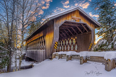 Smith Rapids Bridge Winter (paulostrum) Tags: bridges coveredbridges winter wisconsin