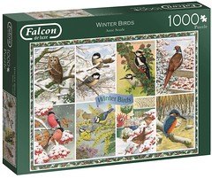 "FALCON F ? 1000 68X49CM  ART 11234 Winter Birds Anne Searle D/L (Andrew Reynolds transport view) Tags: jigsaw ""jigsaw puzzle"" picture pieces large difficult falcon hobby leisure pasttime f 1000 68x49cm art 11234 winter birds anne searle dl"