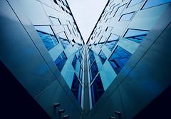 Corner (kuestenkind) Tags: architektur architecture modern hamburg ecke norddeutschland northgermany fenster canon 6d blau blue