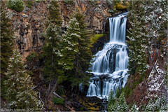 Undine Falls (Sandra Lipproß) Tags: undinefalls waterfall yellowstone nationalpark wyoming usa nature outdoor river softwater snow winter fall autumn landscape
