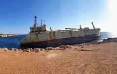 Edro III Shipwreck 🚢 (Konstantinos CY) Tags: mobilephotography mobile shipwreck edro3 edroiii ship abandoned galaxys9 samsunggalaxys9 peyia paphos cyprus onirobythesea attraction majestic rust 2011 sea bythesea sky sunnyday summer